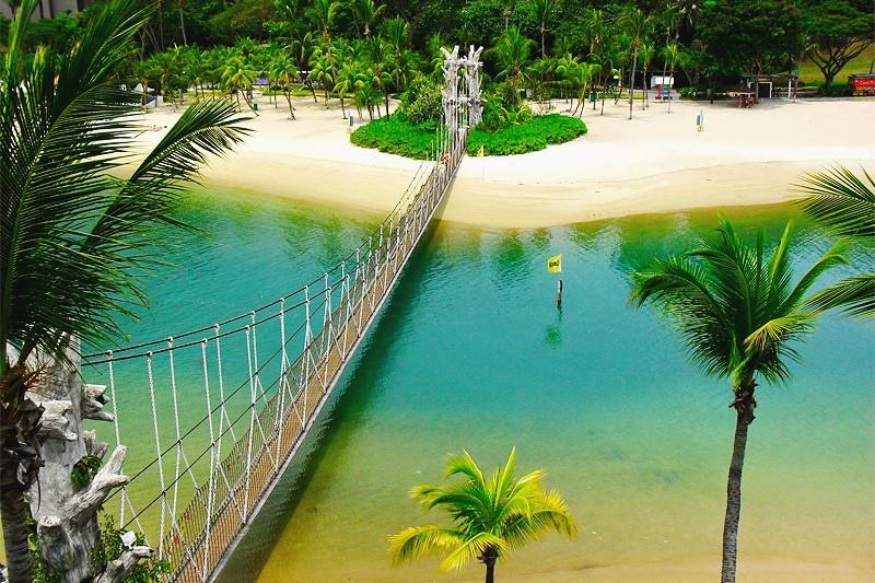 Пляжи острова Сентоза в Сингапуре