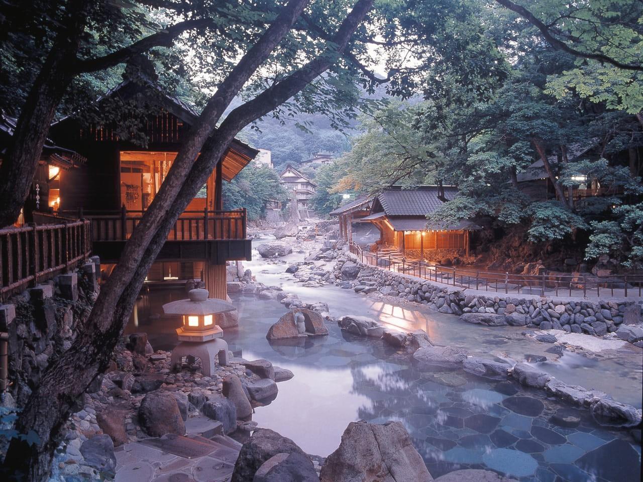 Термальные источники в Японии