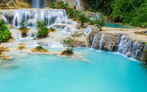 Водопад Тат Куанг в Лаосе