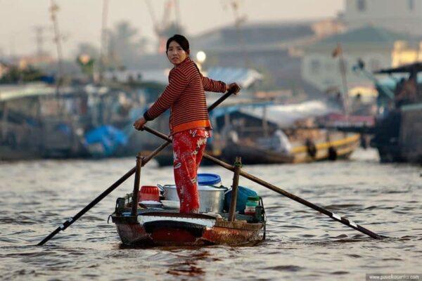 Рынок на воде Вьетнам