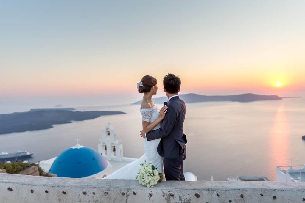 Остров Санторини - рай для проведения свадьбы