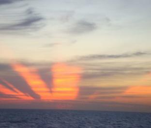 Заход солнца, Атлантический океан
