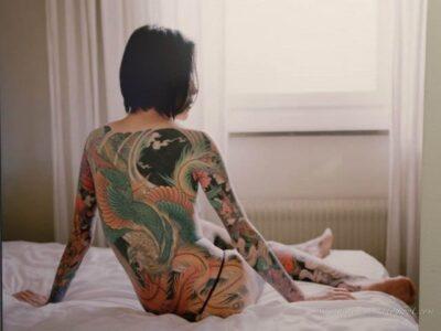 татуаж в японии, девушка с татуировкой, японская татуировка