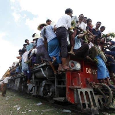 Железнодорожное путешествие по Мьянме